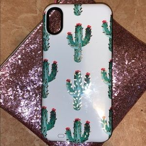 Charging western cactus XR phone case